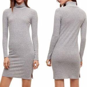 Wilfred Free Mariel Mock Neck Grey Sweater Dress